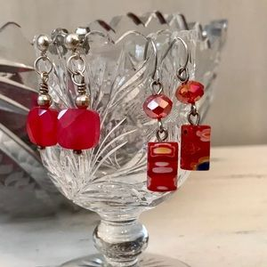 ⭐️5/$25⭐️ Two pairs of red earrings